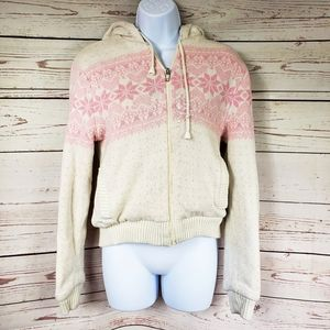 Changing Scene sherpa lined thick zip up sweater M